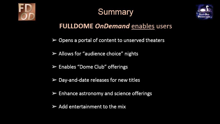 FULLDOME OnDemand summary slide 2